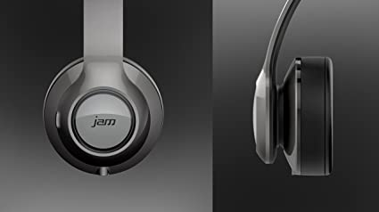 Amazon.com: Jam Transit Touch Grey Wireless Bluetooth Over Ear Headphones with Microphone - HX-HP910GY: Home Audio & Theater