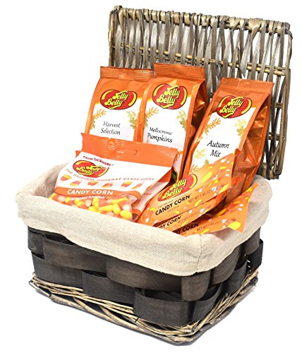 Gift Universe Christmas Gift Basket with Jelly Belly Candy Corn, Jelly Belly Mellocreme Pumpkins, Jelly Belly Harvest Selection, Jelly Belly Autumn Mix, Assorted Best Seller Jelly Belly Candies