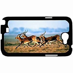 Customized Back Cover Case For Samsung Galaxy Note 2 Hardshell Case, Back Cover Design Antelope Personalized Unique Case For Samsung Note 2