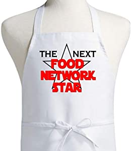 The Next Food Network Star Cooking Apron, White Kitchen Apron, One Size Fits All
