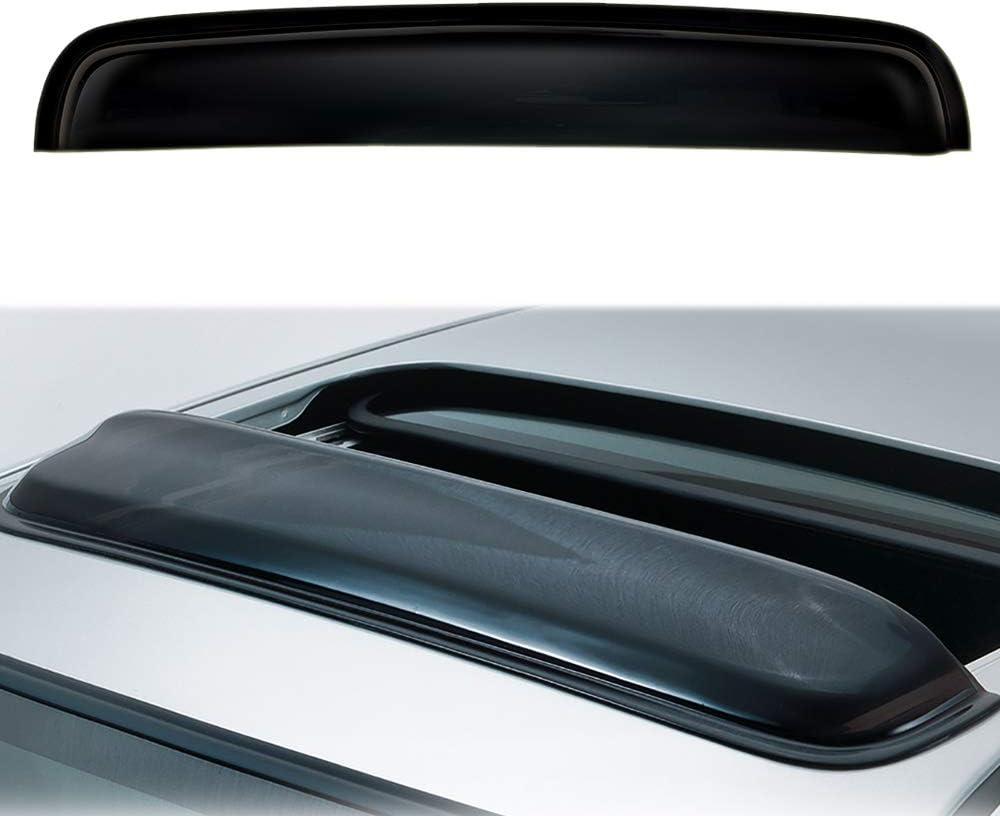 vivnsyauto 34in Please Measure Sunroof Size Before Purchase Universal Thickness Dark Smoke Tint Top Sun//Moon Roof Rain Snow Guard Window Sunroof//Moonroof Wind Deflector