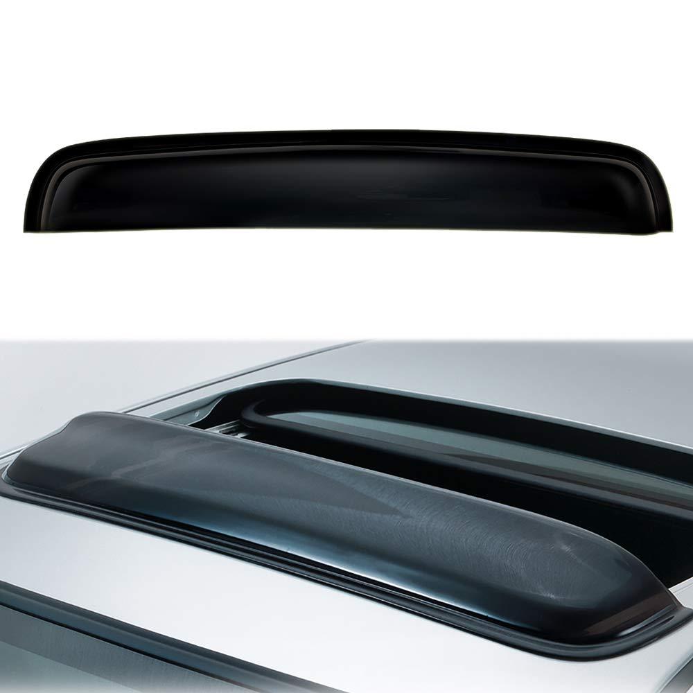 1pc 38 Universal Deflector Sun//Moon Roof Rain Snow Guard Wind Dark Smoke Tint Window Visor