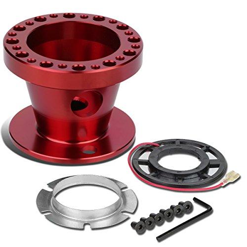Aluminum Steering Wheel 6-Hole Hub Adaptor Kit (Red) For Camry/Corolla / 4Runner / MR2 / Scion tC xB