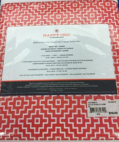 happy-chic-by-jonathan-adler-aztec-geo-queen-sheet-set-cayenne-red