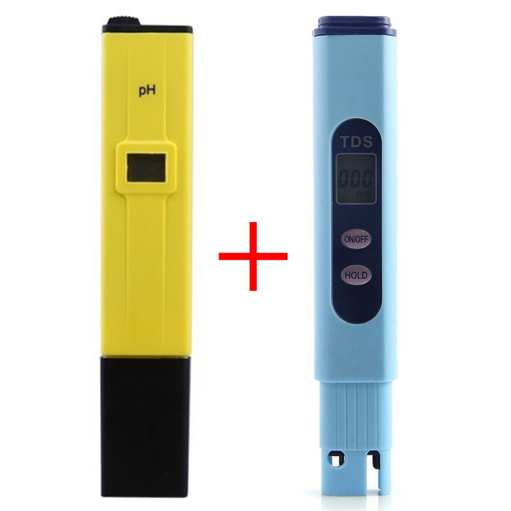 hibote PH Water Meter Electric Pocket Digital Water Quality Tester of 0.1pH Accuracy with LCD Display Yellow hibote Network Technology Ltd