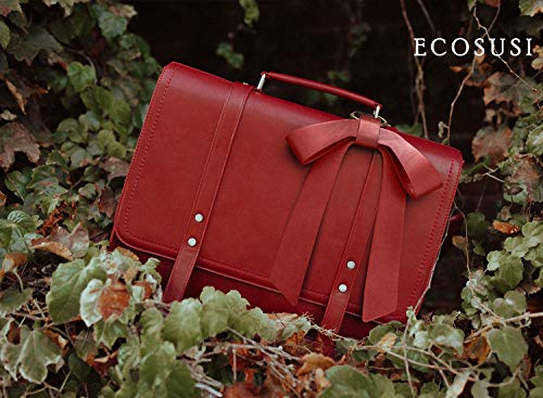 Messenger Ecosusi Grande Laptop Pollici Pelle In 6 15 Per A Donna Vintage Caffè Borsa Tracolla Pu YXqrYB