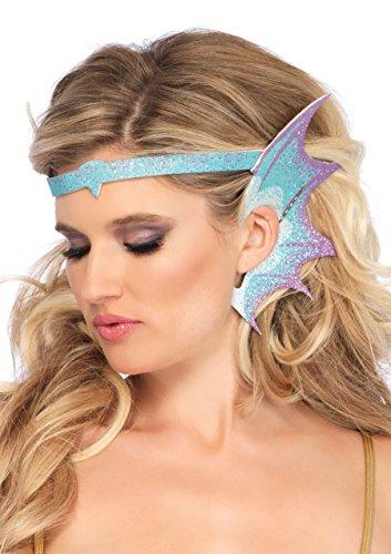 Leg Avenue Women's Glitter Mermaid Costume Fin Accessory, Blue, One-Size