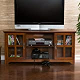 50'' Mission Style TV Media Stand Console , Walnut Finish