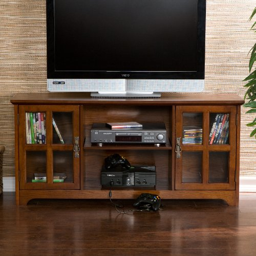 50'' Mission Style TV Media Stand Console , Walnut Finish by FurnitureMaxx (Image #8)