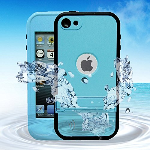 WONFAST® Waterproof Shockproof Dirt Proof Snow Proof Heavy Duty Armor Defender Protective Case Cover for Apple iPod Touch 5 (light ()