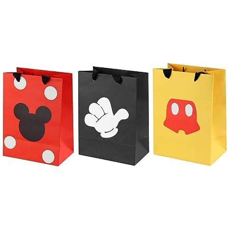 Amazon.com: Bolsas de regalo de Mickey Mouse, 18 unidades ...