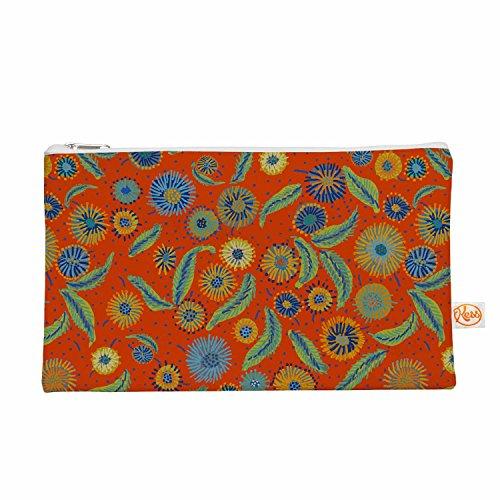 Kess eigene 12,5x 21,6cm Laura Nicholson Asters auf Scarlet Alles Tasche–Orange Floral