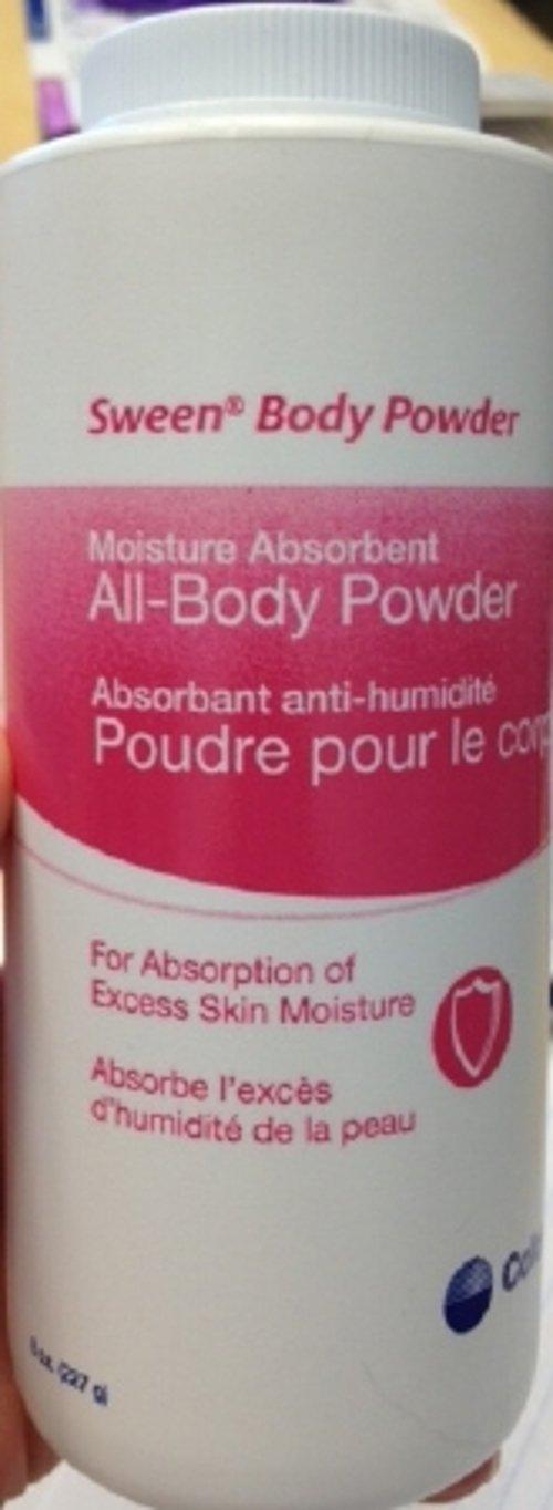 Sween Lightly Scented Body Powder 8 oz. in Volume Shaker Bottle