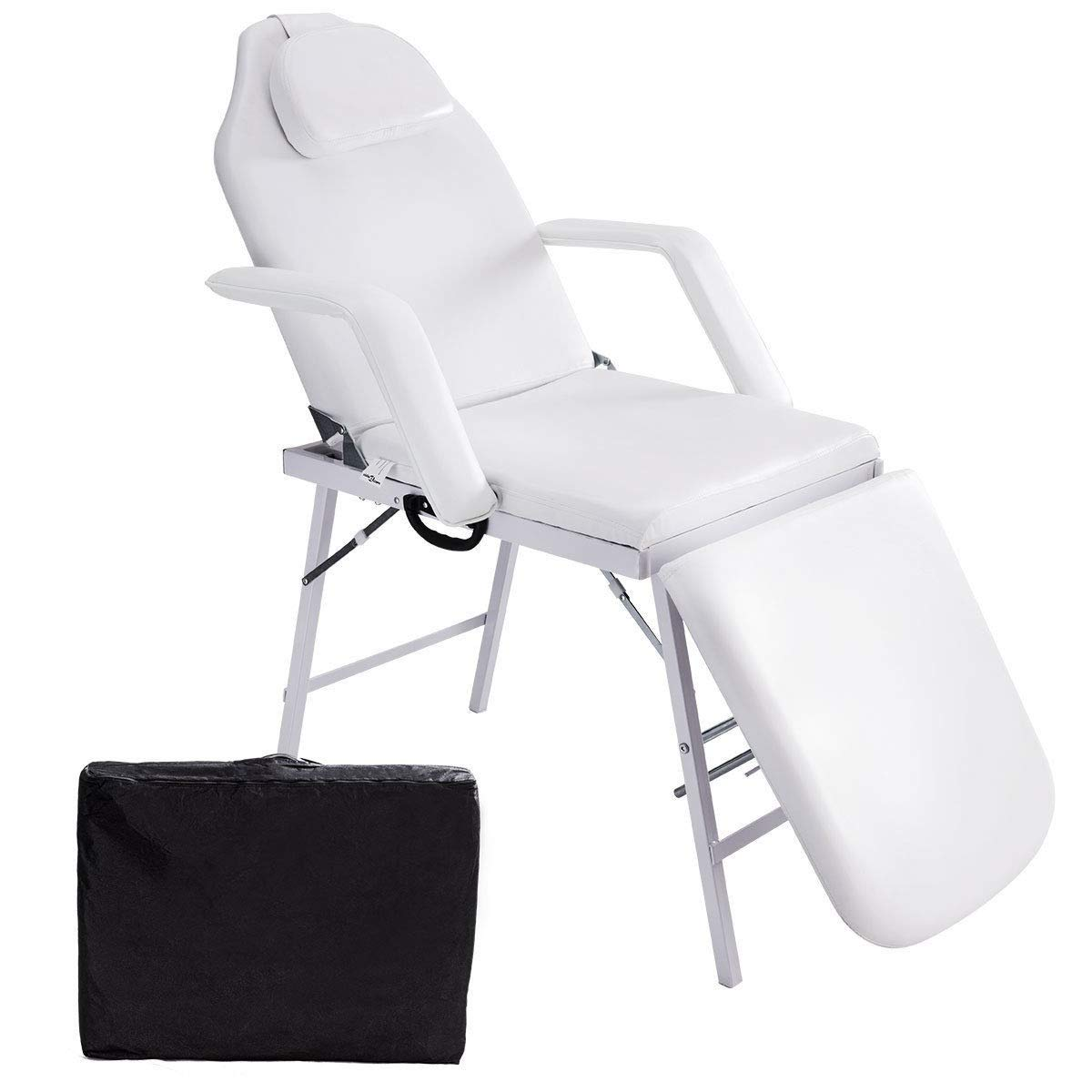 73''L Portable Adjustable Massage Table Chair Couch for Salon Beauty Physiotherapy Facial SPA Tattoo Household