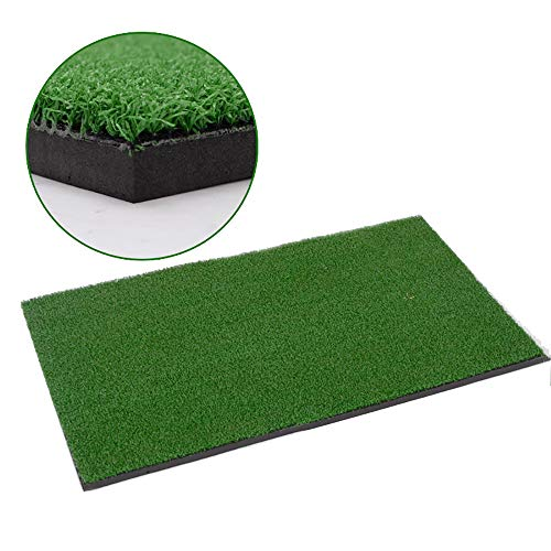 ZRK Launch Pad Golf Practice Mat 80X50CM Mini Fairway Residential Practice Hitting Mat Rubber Guaranteed to Get Your Golf Game Up to Par