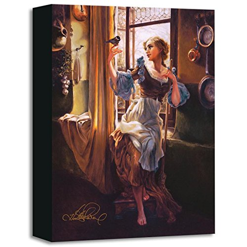 """Cinderella's New Day"" Limited edition gallery wrapped canvas by Heather Theurer from the Disney Treasures collection, with COA."