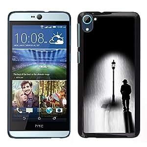 LECELL--Funda protectora / Cubierta / Piel For HTC Desire D826 -- Farola Negro Blanco Dibujo Oscuro --