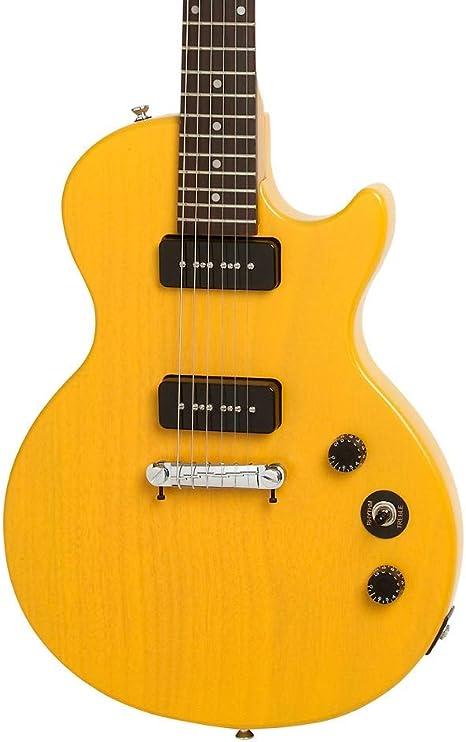Epiphone Les Paul especial I P90 Guitarra eléctrica Worn TV amarillo: Amazon.es: Instrumentos musicales