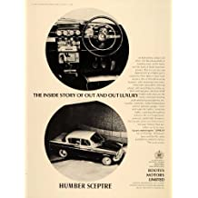 1965 Ad Humbler Sceptre British Car Automobile Interior - Original Print Ad