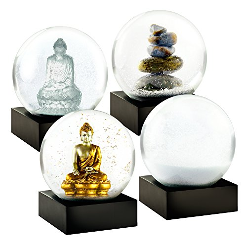 Beautiful Snow - CoolSnowGlobes Zen Mini Set of Four Snow Globes