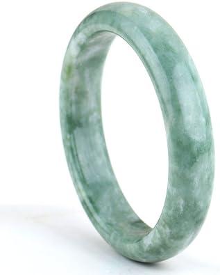 Natural Jadeite Jade Bangle Bracelet Grade A Pure Certified Natural Stone 63mm