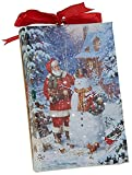 RAZ Imports Santa and Snowman LED Canvas Print/Ornament — Lighted Picture of Santa w/a Snowman — 4'' x 6'' with Timer and On/Off Switch