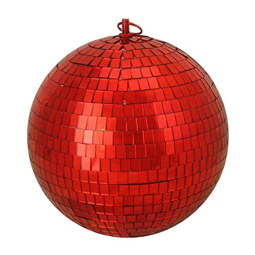 Northlight Shiny Red Hot Mirrored Glass Disco Ball Christmas Ornament, 8