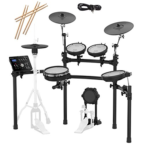 Roland TD-25K-S Electronic Drum Set Bundle with 3 Pairs of Sticks, Audio Cable, Polishing Cloth by Roland