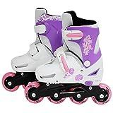 SK8 Zone Girls Pink Roller Blades Inline Skates Adjustable Size Childrens Kids Pro Skating New (Medium 13-3 (31-34 EU))