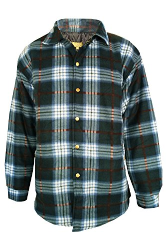 Quilted Plaid Flannel Work Shirt - 6