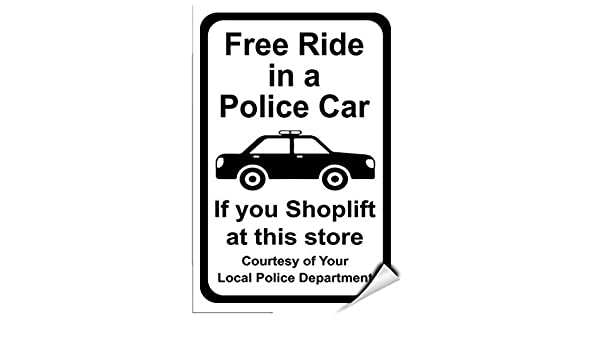 Free Ride in A Police Car If You Shoplift at This Store