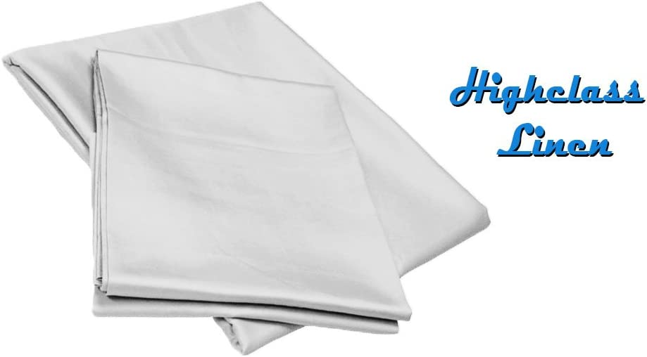 Queen Size 1000 Thread Count White Solid 100/% Egyptian Cotton 4-Piece Sheet Set with 15 Deep Pocket