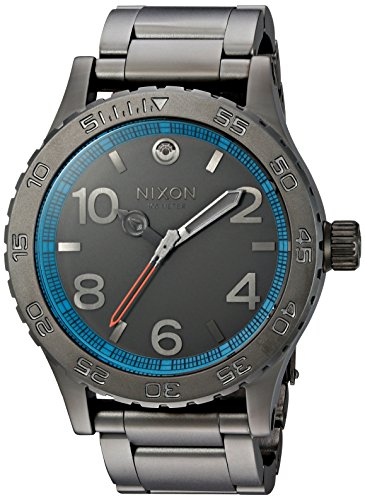 Nixon Men's '46 SW, Millenium Falcon Gunmetal' Quartz Stainless Steel Casual Watch, Color:Silver-Toned (Model: A916SW-2385-00)