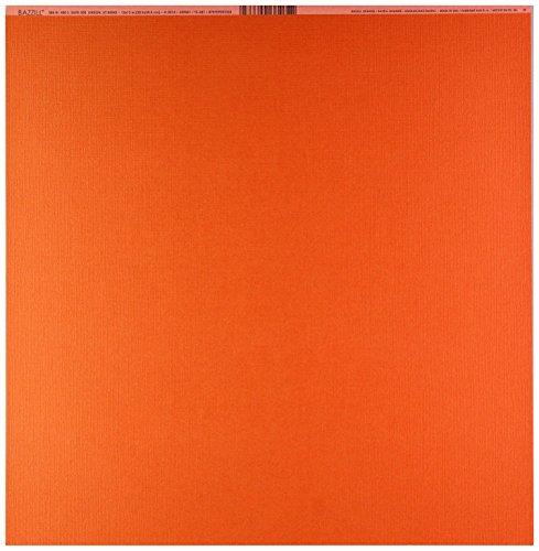 (Bazzill Basics Paper BBPT3-381 Cardstock Orange 12X12 80Lb Mono by Bazzill,)