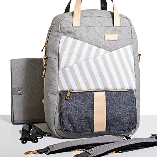 Gadikat Diaper Bag – Dani Backpack, Huge Diaper Changing Pad & Stroller/Shoulder Straps Included