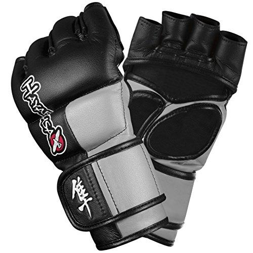 Hayabusa Tokushu 4oz MMA Gloves, Black/Slate Grey, X-Large (4oz Mma Gloves)