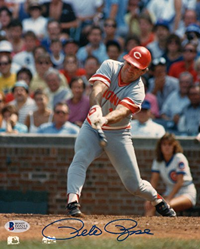 Pete Rose Autographed Signed 8x10 Photo Cincinnati Reds Legend Beckett Certified ()