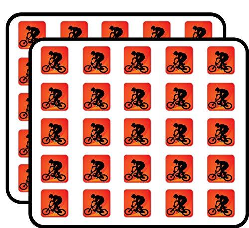 BMX Sport Icon Cycling Sticker for Scrapbooking, Calendars, Arts, Kids DIY Crafts, Album, Bullet Journals 50 Pack