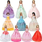 E-TING Princess Barbie Doll Clothes (5-Piece Random Set) – Fashionable Dresses and Outfits for Girl Toys – Vintage Fashion, Styles and Patterns