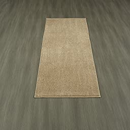 Berrnour Home Loft Collection Camel Solid Soft Pile Shag Runner Rug with Non-slip(rubber-backing) (20\