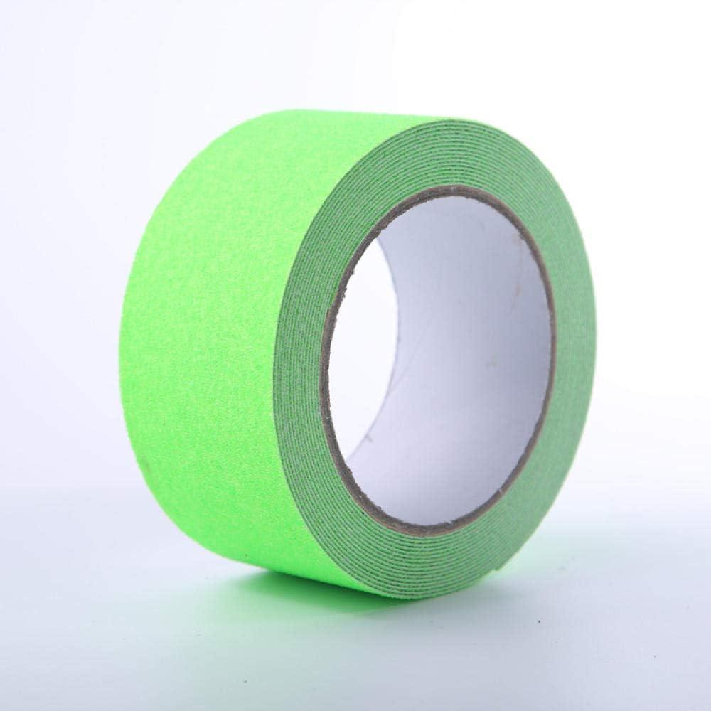 Vert Fluorescent/_10CM 5M Ruban Adh/ésif Antid/érapant,Bande S/écurit/é Antid/érapant pour Int/érieur et Ext/érieur Escaliers//TapisVignette davertissement Blanche Fluorescente