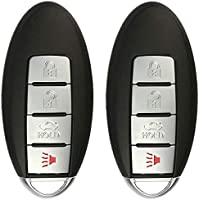KeylessOption Keyless Entry Remote Control Car Smart Key Fob Replacement for CWTWBU735 (Pack of 2)