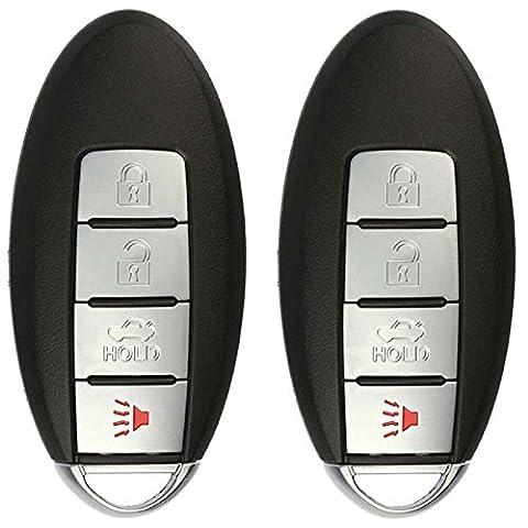 KeylessOption Keyless Entry Remote Car Key Fob for KBRASTU15 (Pack of 2) (Nissan Altima 2003 Ignition Key)