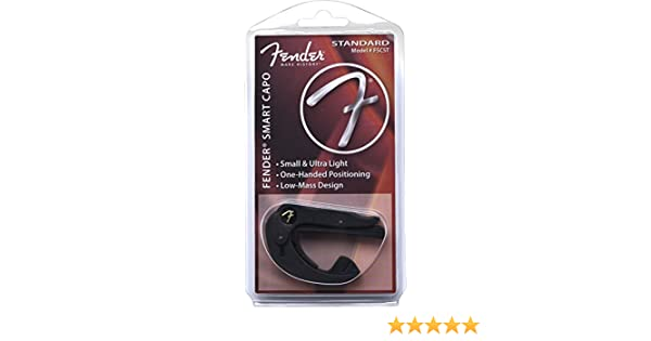 Fender Smart Capo Standard - Cejilla guitarra Accessories Smart Capo Electric Guitar Strap - Standard: Amazon.es: Instrumentos musicales