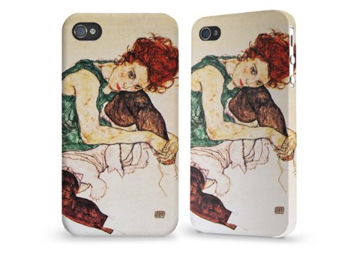 "Hülle / Case / Cover für iPhone 4 und 4s - ""Seated woman"" by Egon Schiele"