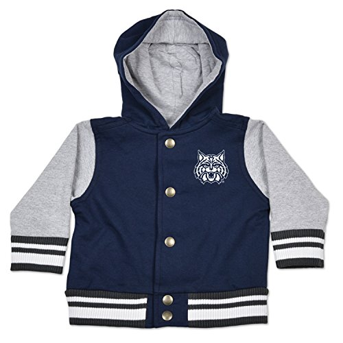NCAA Arizona Wildcats Children Unisex Infant Letterman Jacket, 18 Months, Navy/Oxford