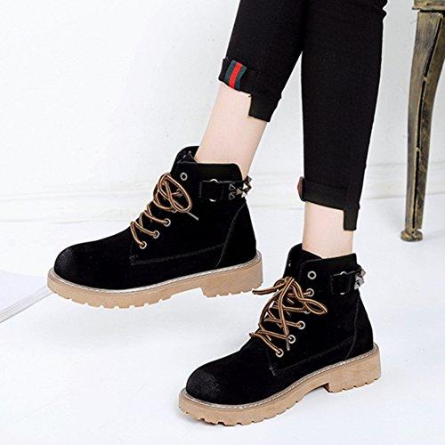 Army Martin Black Christmas Dark Classic Light Brown Women's Winter Boot Lace Brown Green Black Type zq0ftxU