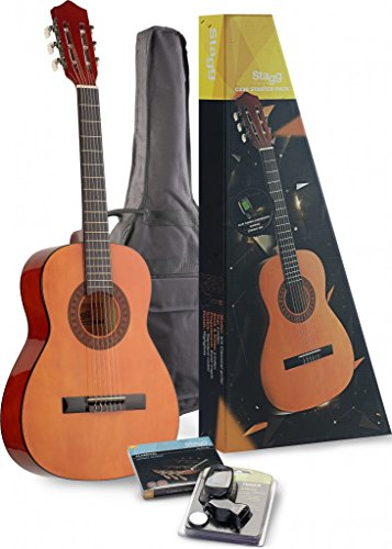 Stagg C530 3/4-Size Nylon String Classical Guitar with Accessories Package - Natural