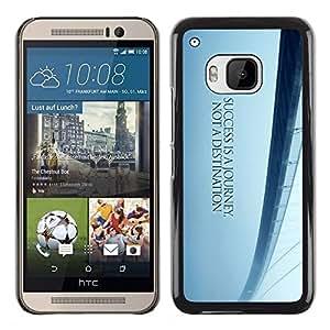 TECHCASE**Cubierta de la caja de protección la piel dura para el ** HTC One M9 ** Bridge Dreams Freedom Blue Mist