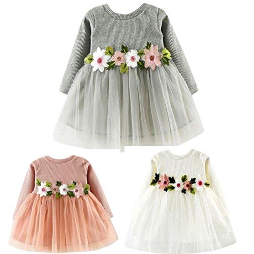 56faaf3b936 Kavitoz Hot Sale for 0-24M Baby Cute Toddler Baby Girl Floral Tutu Long  Sleeve Lace Princess Dress